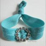 Turquoise Hair Tie - Bling ..