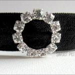 Black Hair Tie - Crystal Ch..