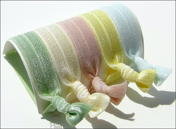 Hair Ties - Peace Collection - Set of 5 - Elastic Hair Ties - Mane Accessory