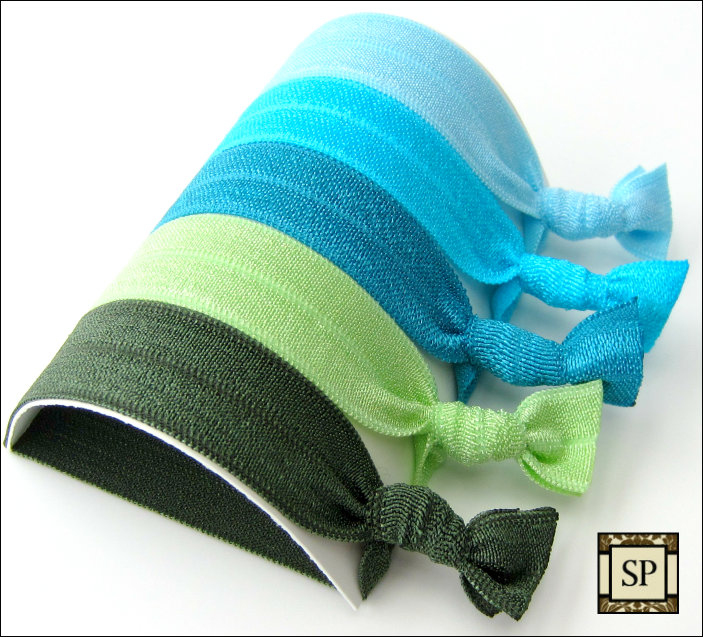Hair Ties - Emerald Isle Collection - Set of 5 - Sweet Petites