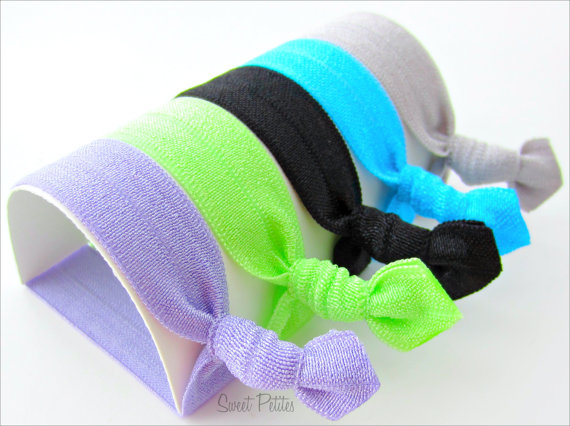 Hair Ties - Set of 5 - Doubles as Bracelet - High Voltage Collection - Elastic Hair Ties - Mane Accessory