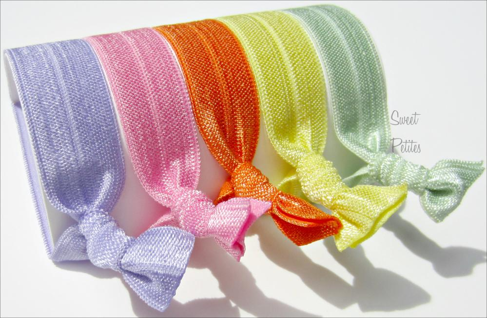 Hair Ties - Blossom Collection - Set of 5 - Sweet Petites
