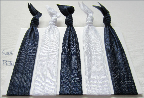 Elastic Hair Tie Nautical Collection Set of 5 Doubles as Bracelet