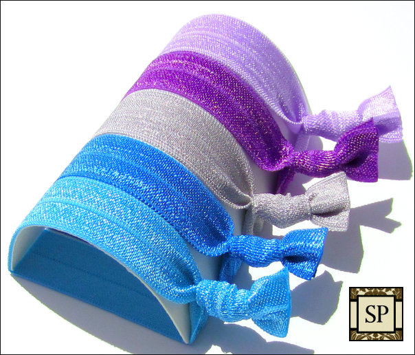 Hair Ties - Lavender Breeze Collection - Set of 5 - Elastic Hair Ties - Sweet Petites