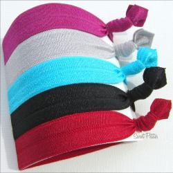 Hair Tie Set of 5 Doubles as Bracelet The Bold Collection
