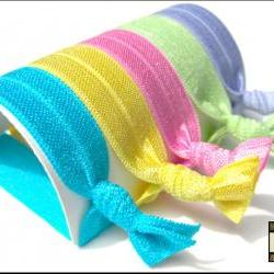 Hair Ties - Summer Splash Collection - Set of 5 - Sweet Petites